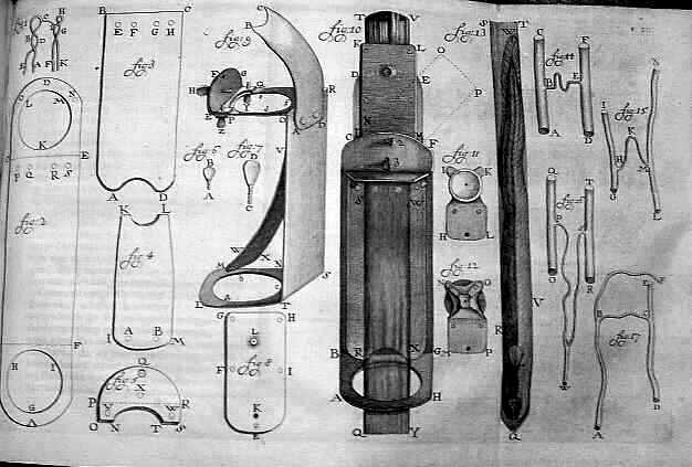 "Van Leeuwenhoek's microscope. ""Van Leeuwenhoek's microscopes by Henry Baker"" by Henry Baker (naturalist) - http://www.wired.com/imageviewer/?imagePath=/images/article/full/2008/09/microscope.jpg&imageCaption=Henry+Baker+drew+this+illustration+of+van+Leeuwenhoek%27s+microscopes+in+1756.&imageCredit=. Licensed under Public Domain via Wikimedia Commons - http://commons.wikimedia.org/wiki/File:Van_Leeuwenhoek%27s_microscopes_by_Henry_Baker.jpg#mediaviewer/File:Van_Leeuwenhoek%27s_microscopes_by_Henry_Baker.jpg"