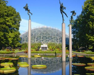 Climatron at the Missouri botanical garden. Source.