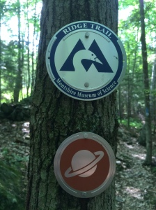 Markings on The Montshire and Planet Walk Trails.